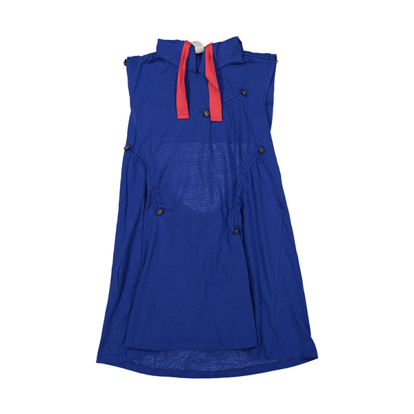 TIA CIBANI KIDS - Bustled Cinched Hoodie Dress