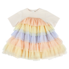 "CAROLINE BOSMANS - ""LIFE IS NOT BETTER IN PYJAMAS"" - Wide Layered Dress - TULLE PEACH"