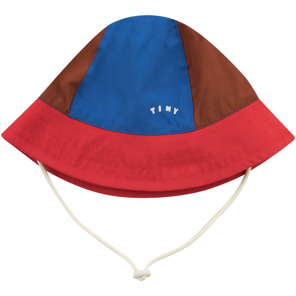 TINYCOTTONS - Tiny Colorblock Bucket Hat - NUT BROWN/RED