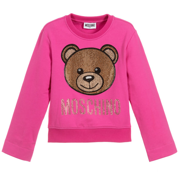 MOSCHINO -  Sweatshirt with Strass Toy Bear