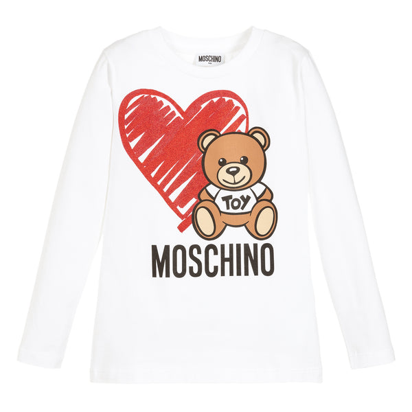 MOSCHINO -  T-Shirt with Heart Toy Bear