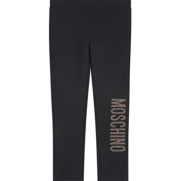 MOSCHINO - Leggings with Strass Logo