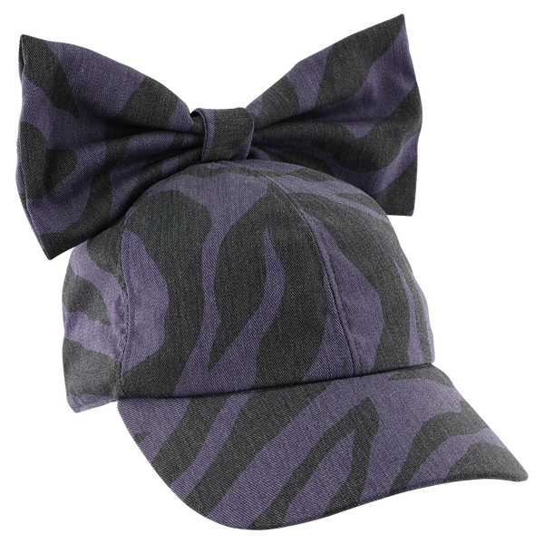 "CAROLINE BOSMANS - ""LIFE IS NOT BETTER IN PYJAMAS"" - Bow Cap - ZEBRA PURPLE"