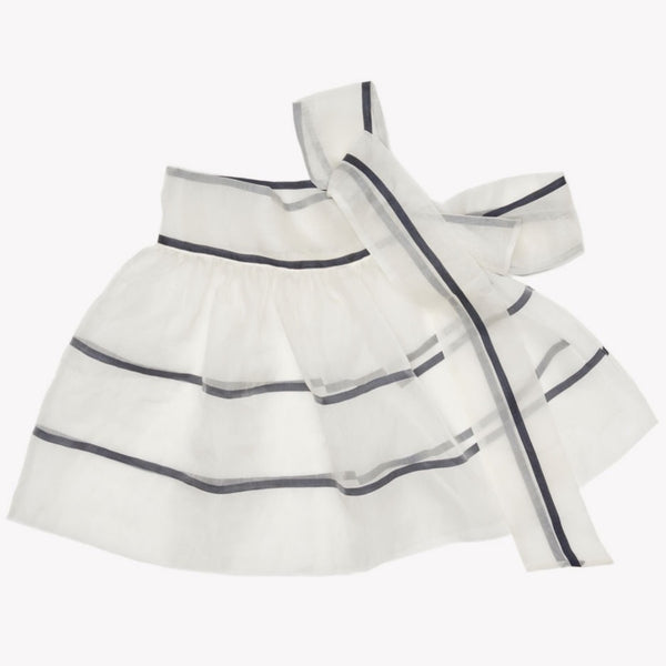 MILK & BISCUITS - Striped Organza Wraparound Skirt