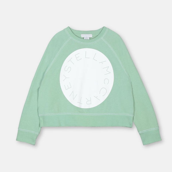 STELLA MCCARTNEY KIDS - Oversized Sweatshirt with Stella Circle