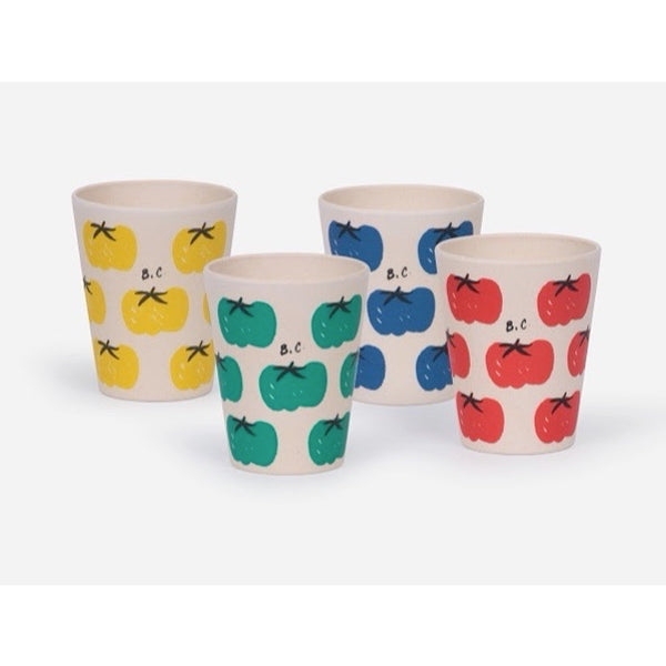 BOBO CHOSES - Tomatoes Bamboo Glasses (Pack of 4)
