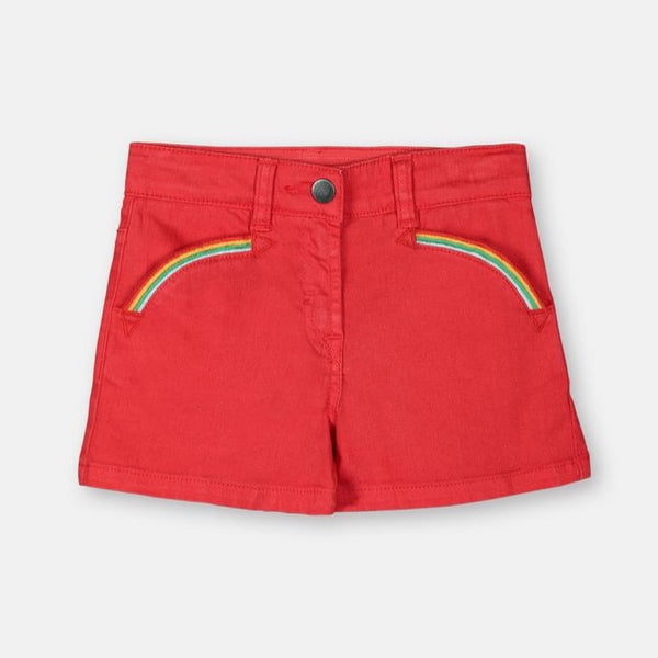 STELLA MCCARTNEY KIDS - Denim Shorts with Rainbows