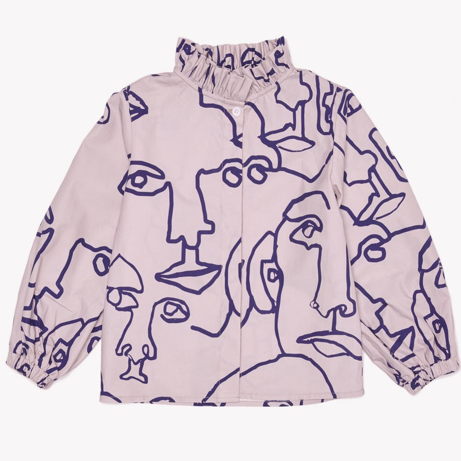 MILK & BISCUITS - Face Print Blouse