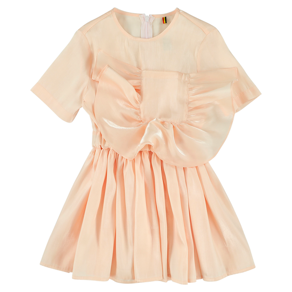 "CAROLINE BOSMANS - ""LIFE IS NOT BETTER IN PYJAMAS"" - Pocket Dress - SHIMMER PEACH"