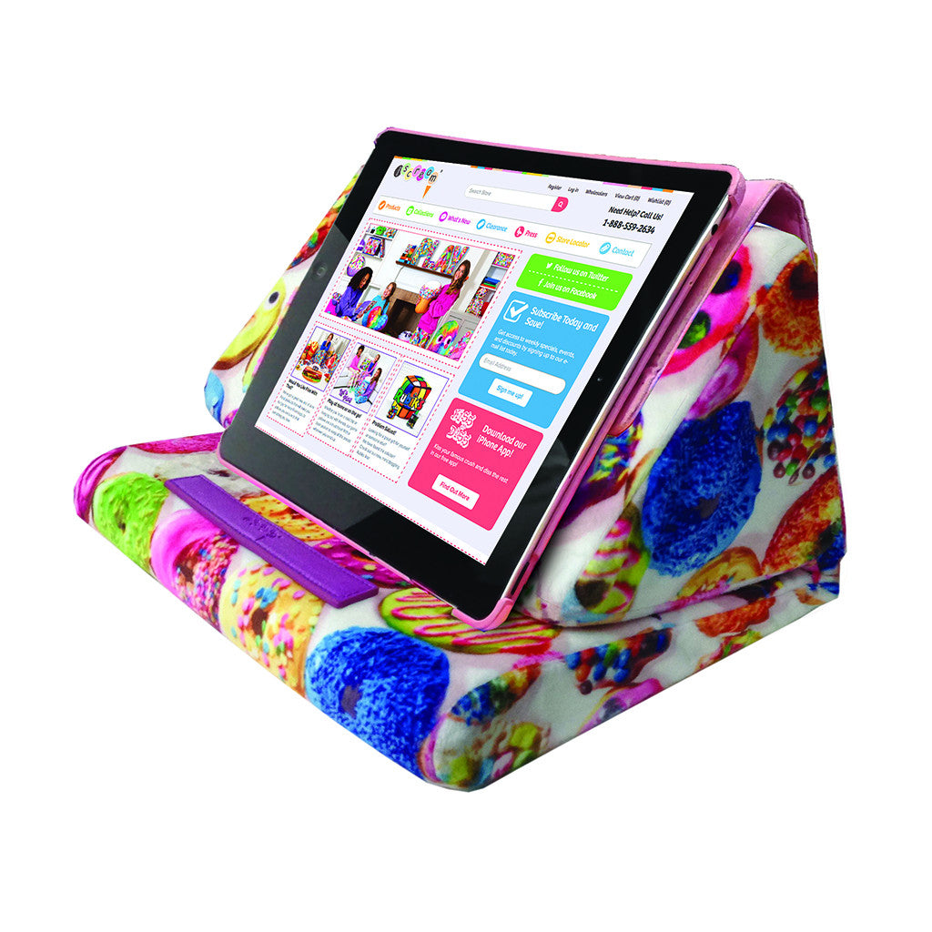 "iSCREAM - ""Donuts"" Soft Fleece Tablet Pillow"