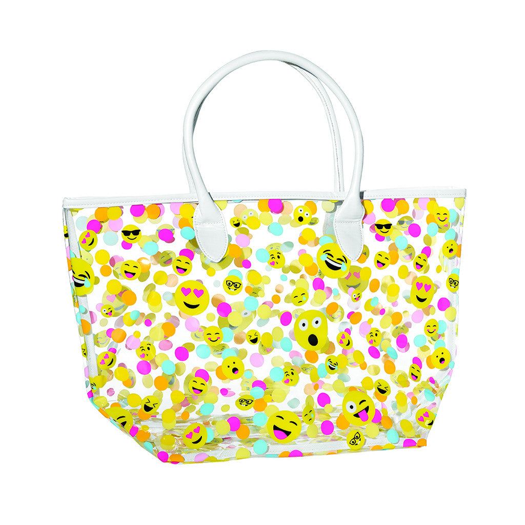 "iSCREAM - ""Confetti Emojis"" Clear Tote Bag"