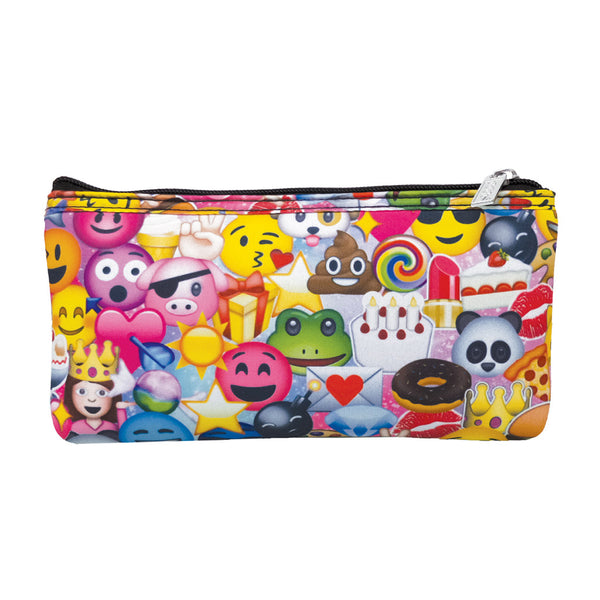 "iSCREAM - ""Emoji Collage"" Neoprene Pencil Case"