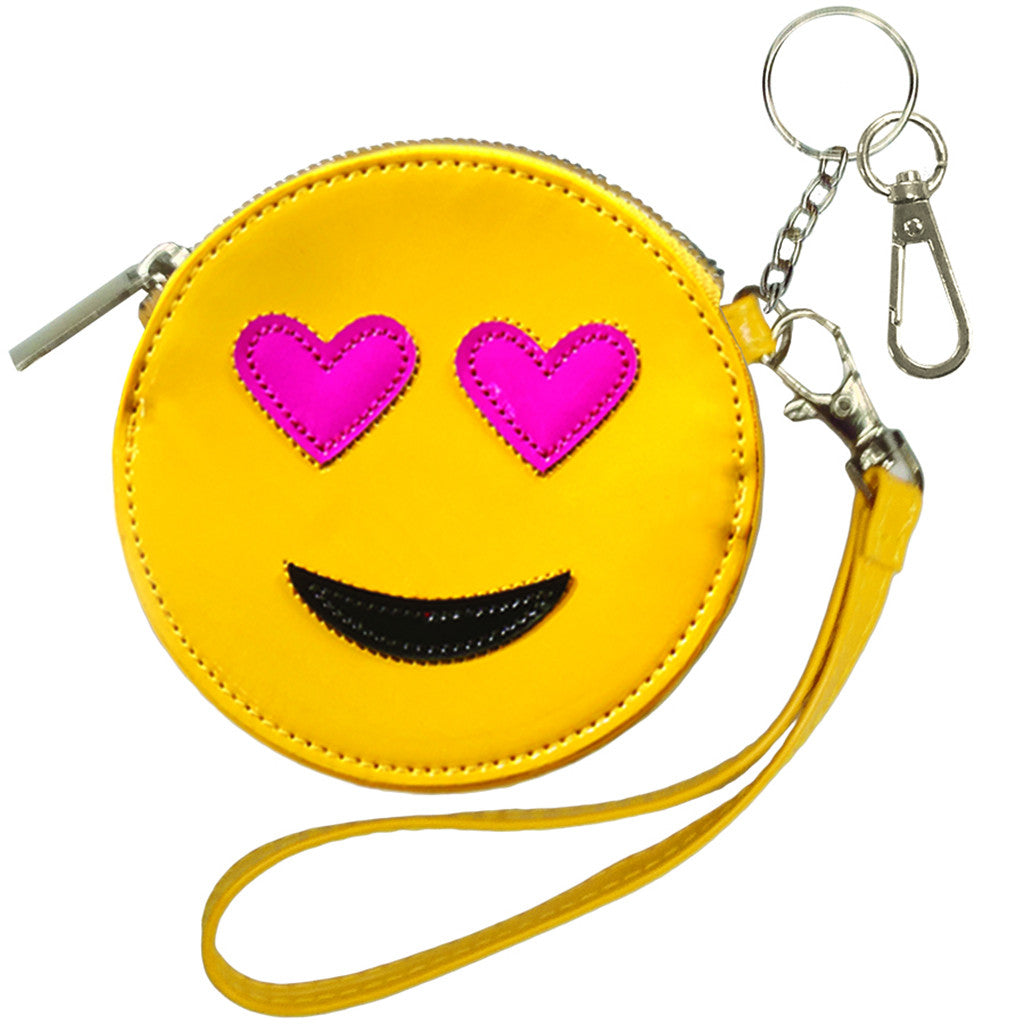 "iSCREAM - ""Heart Eyes Emoji"" Purse Keychain"