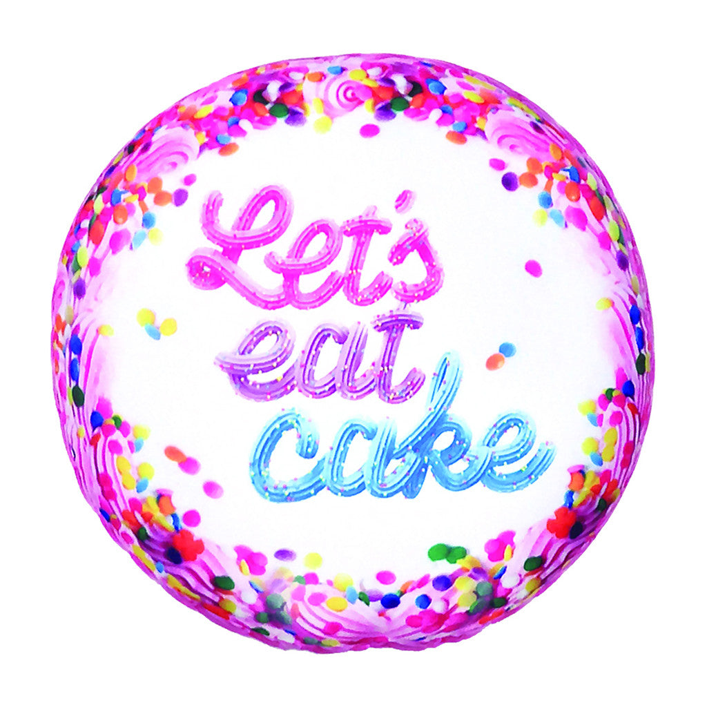 "iSCREAM - ""Let's Eat Cake"" Vanilla Scented Microbead Pillow"