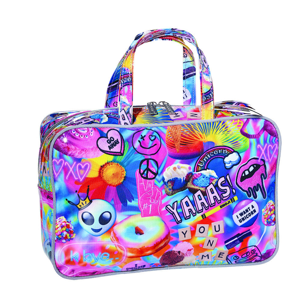 "iSCREAM - ""Psychedelic Collage"" Large Cosmetics Bag"