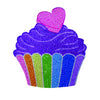 "iSCREAM - ""Cupcake"" Brightly Colored Decal with Rhinestones"