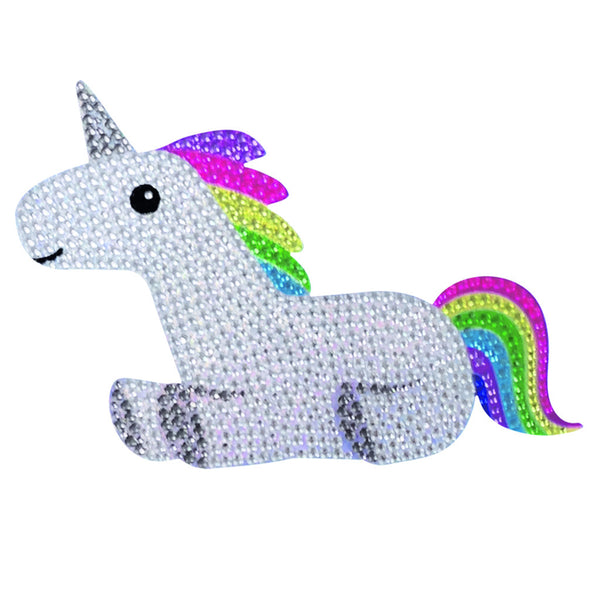 """Rainbow Unicorn"" Brightly Colored Decal with Rhinestones"