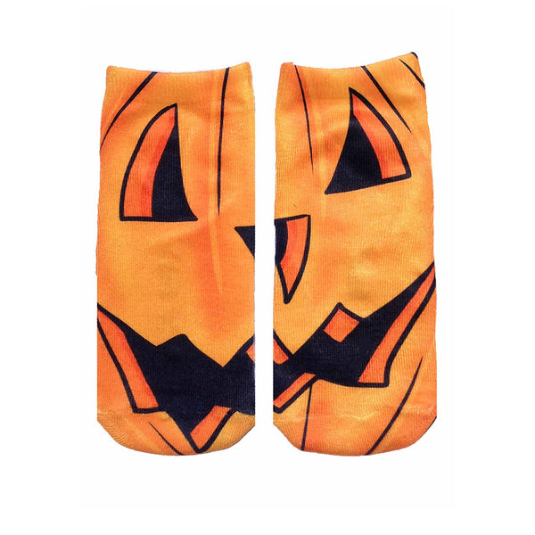 "LIVING ROYAL - ""Jack O'Lantern"" Ankle Socks"