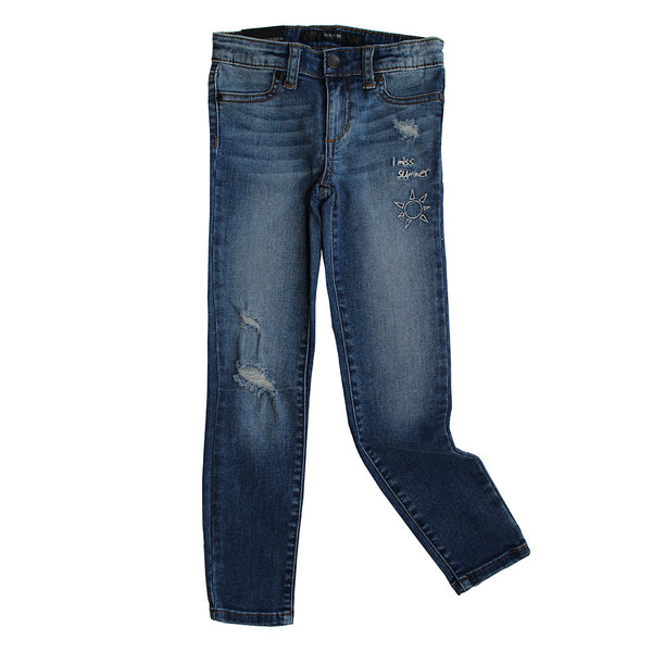 JOE'S JEANS - Distressed Jegging wth Embroidery