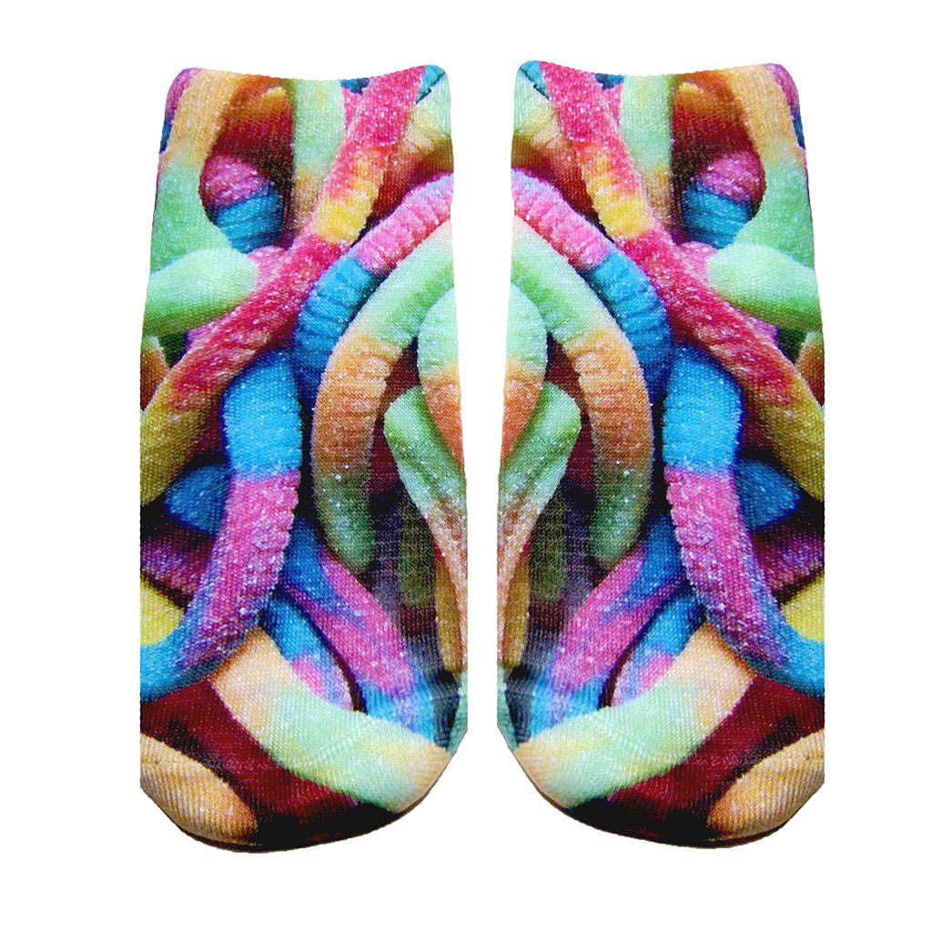 "LIVING ROYAL - ""Gummy Worms"" Ankle Socks"