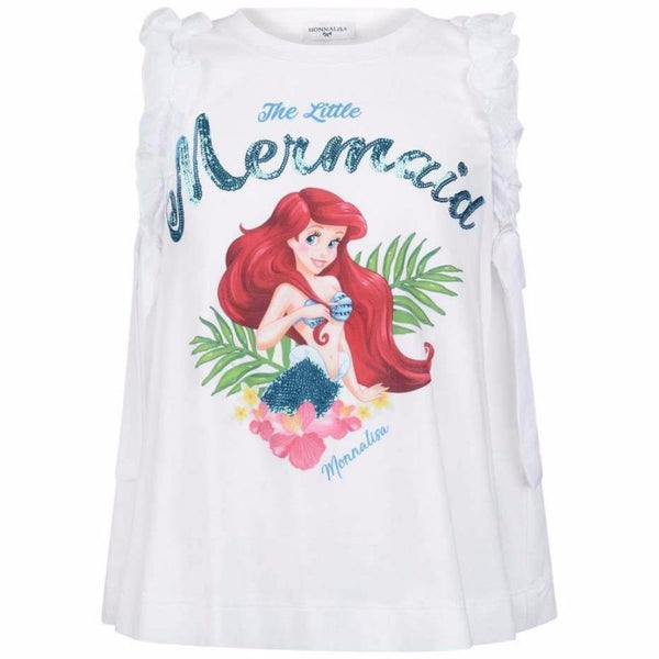 "MONNALISA - ""Little Mermaid"" Sleeveless Top"