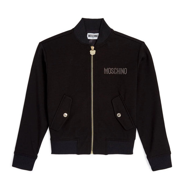 MOSCHINO -  Zipped Jacket with Strass Toy Bear
