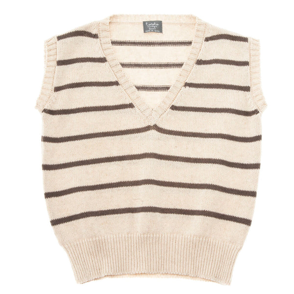 TOCOTO VINTAGE - Striped Sweater Vest