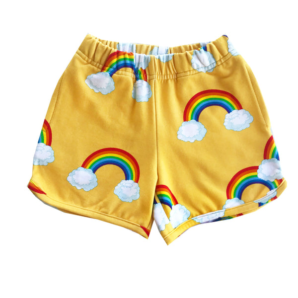 "ROMEY LOVES LULU - ""Yellow Rainbows"" Printed Shorts"