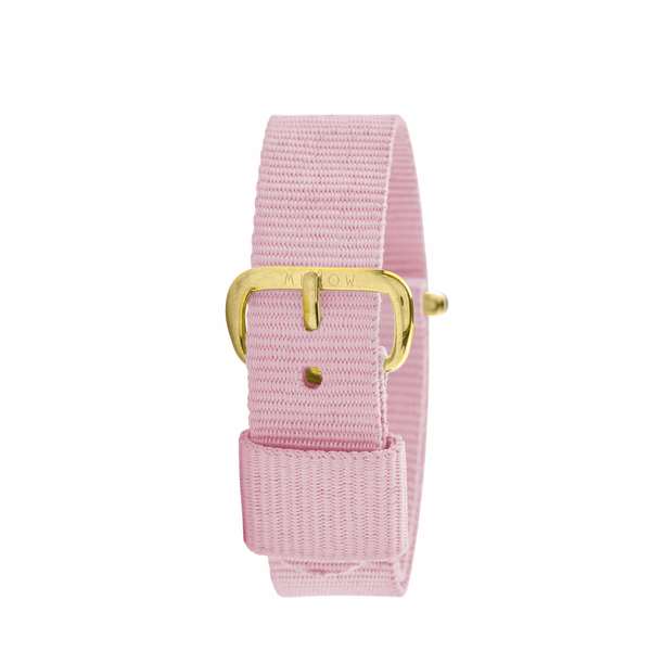 MILLOW PARIS - Pink Dragee Strap - Yellow Gold Buckle