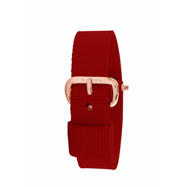 MILLOW PARIS - Red Paris Strap - Rose Gold Buckle