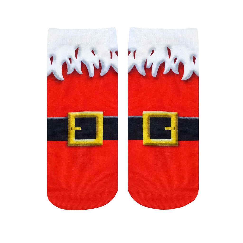 "LIVING ROYAL - ""Santa Boots"" Ankle Socks"