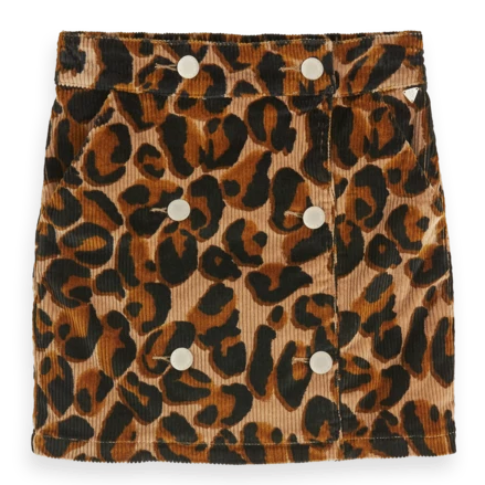 SCOTCH & SODA - Leopard Print Corduroy Skirt