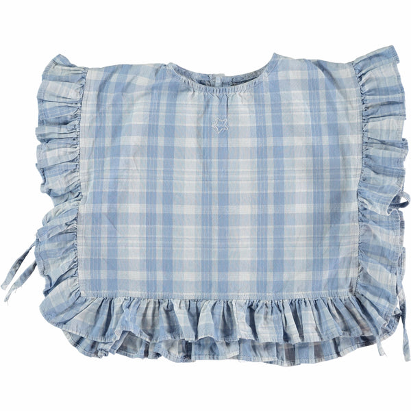 TOCOTO VINTAGE - Checked Denim Blouse