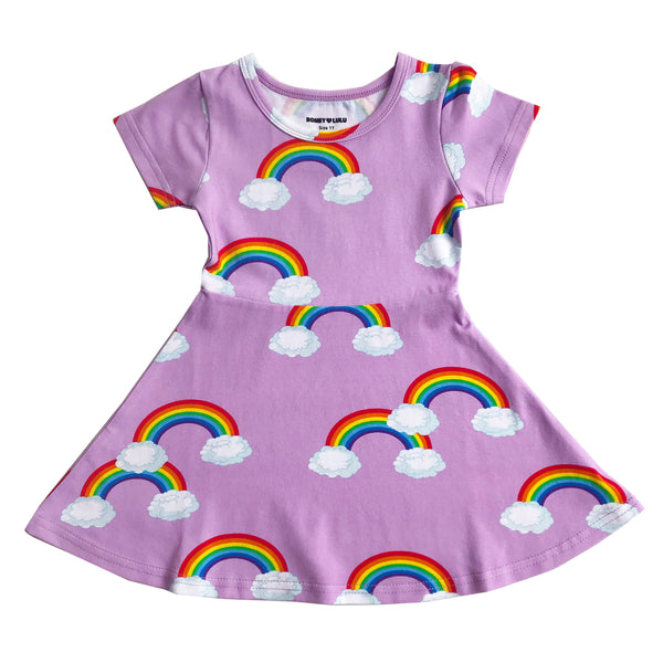 "ROMEY LOVES LULU - ""Purple Rainbows"" Skater Dress"