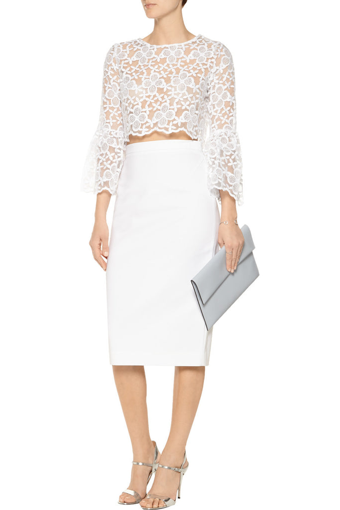 ALEXIS Vito Long Sleeve Lace Crop Top