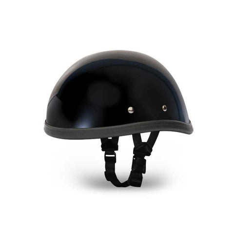 Daytona Eagle Basic/Custom Novelty Cruiser Motorcycle Helmet - Hi-Gloss Black / Medium NOT D.O.T.APPROVED