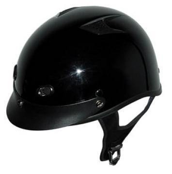 Dot Vented Gloss Black Motorcycle Helmet