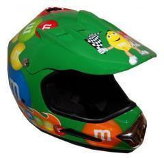 M&M Licensed Green Motocross Helmet