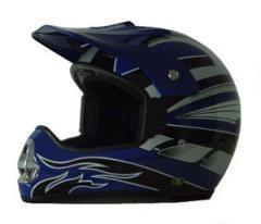 DOT ATV Dirt Bike MX Blue Motorcycle Helmet