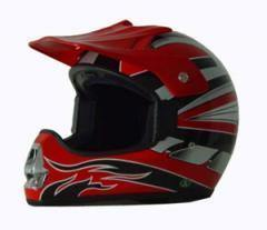 DOT ATV Red Motorcycle Helmet