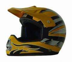 DOT ATV Yellow MX Helmet