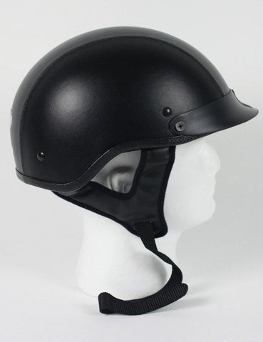 Dot Leather Shorty Helmet