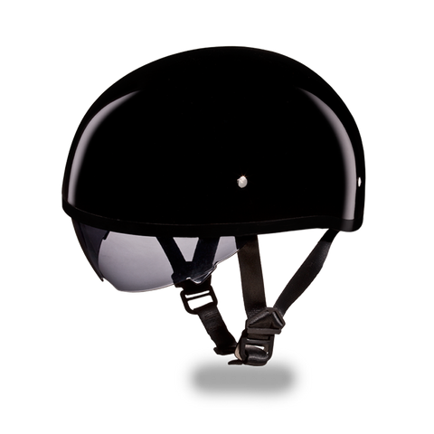 Daytona Skull Cap w/Inner Shield Gloss Black