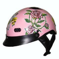 Dot Pink Lady Rider Motorcycle Helmet