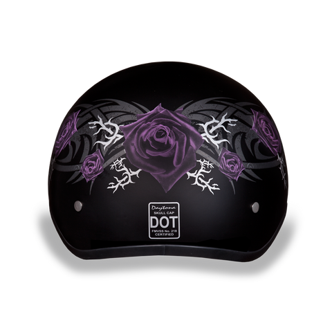 Dot Daytona Skull Cap Purple Rose