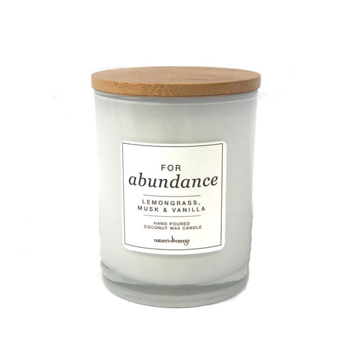 Candle - For Abundance Lemongrass, Musk & Vanilla