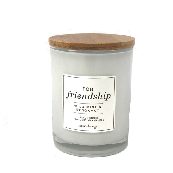 Candle - For Friendship Wild Mint &  Bergamot