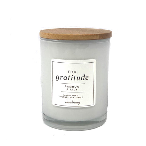 Candle - For Gratitude Bamboo & Lily