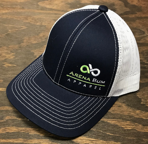 Navy/lime two tone mesh cap