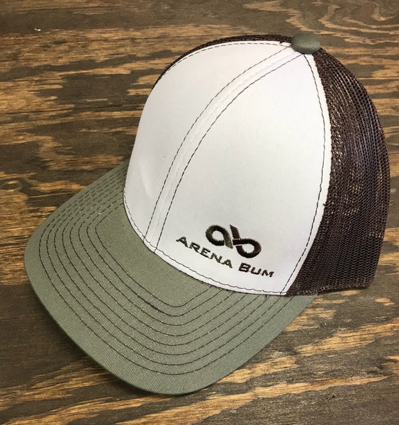 WHITE OLIVE BROWN CAP